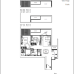 Kandis Residences 2 Bedroom floorplan B